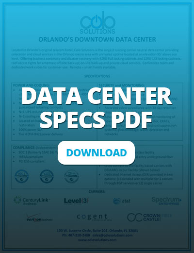 Download Our Data Center Specs/Overview PDF